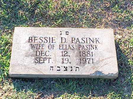 PASINK, BESSIE D - Pulaski County, Arkansas | BESSIE D PASINK - Arkansas Gravestone Photos