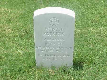 PATRICK (VETERAN WWI), FONZIE - Pulaski County, Arkansas | FONZIE PATRICK (VETERAN WWI) - Arkansas Gravestone Photos