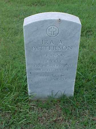 PATTERSON (VETERAN WWI), IRA A - Pulaski County, Arkansas | IRA A PATTERSON (VETERAN WWI) - Arkansas Gravestone Photos