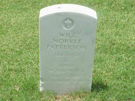 PATTERSON (VETERAN WWI), WILL NORVLE - Pulaski County, Arkansas | WILL NORVLE PATTERSON (VETERAN WWI) - Arkansas Gravestone Photos