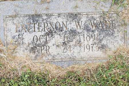 WADE, PATTERSON W. - Pulaski County, Arkansas | PATTERSON W. WADE - Arkansas Gravestone Photos