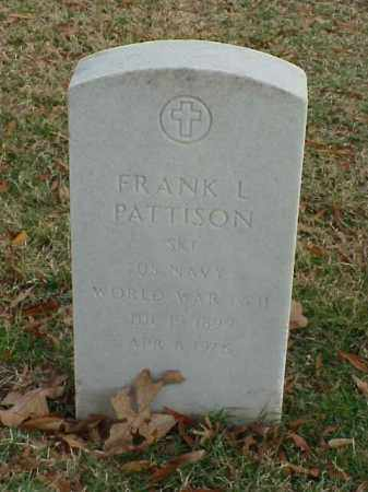 PATTISON (VETERAN 2 WARS), FRANK L - Pulaski County, Arkansas | FRANK L PATTISON (VETERAN 2 WARS) - Arkansas Gravestone Photos