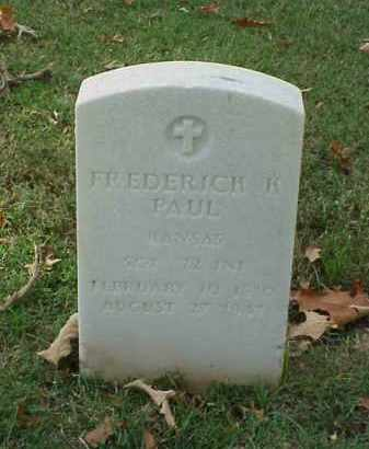 PAUL (VETERAN SAW), FREDERICK K - Pulaski County, Arkansas | FREDERICK K PAUL (VETERAN SAW) - Arkansas Gravestone Photos
