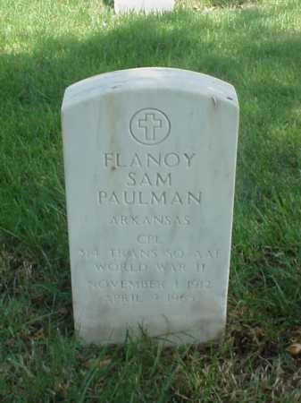 PAULMAN (VETERAN WWII), FLANOY SAM - Pulaski County, Arkansas | FLANOY SAM PAULMAN (VETERAN WWII) - Arkansas Gravestone Photos