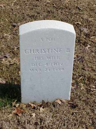 PAYNE, CHRISTINE B - Pulaski County, Arkansas | CHRISTINE B PAYNE - Arkansas Gravestone Photos