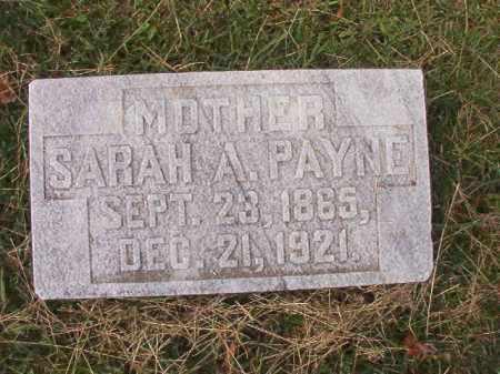 PAYNE, SARAH A - Pulaski County, Arkansas | SARAH A PAYNE - Arkansas Gravestone Photos