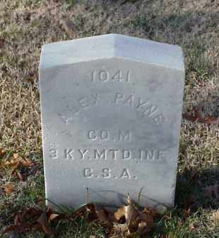 PAYNE (VETERAN CSA), ALEX - Pulaski County, Arkansas | ALEX PAYNE (VETERAN CSA) - Arkansas Gravestone Photos