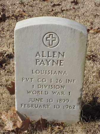 PAYNE (VETERAN WWI), ALLEN - Pulaski County, Arkansas | ALLEN PAYNE (VETERAN WWI) - Arkansas Gravestone Photos
