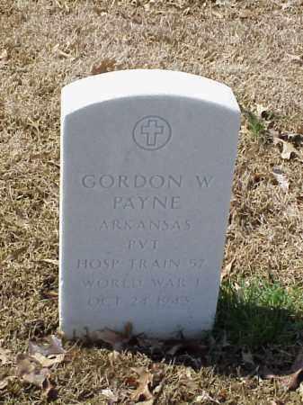 PAYNE (VETERAN WWI), GORDON W - Pulaski County, Arkansas | GORDON W PAYNE (VETERAN WWI) - Arkansas Gravestone Photos