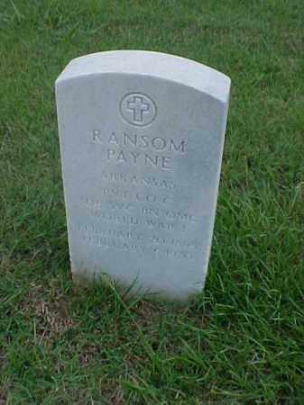 PAYNE (VETERAN WWI), RANSOM - Pulaski County, Arkansas | RANSOM PAYNE (VETERAN WWI) - Arkansas Gravestone Photos