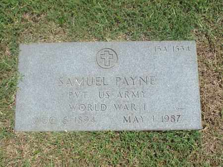 PAYNE (VETERAN WWI), SAMUEL - Pulaski County, Arkansas | SAMUEL PAYNE (VETERAN WWI) - Arkansas Gravestone Photos