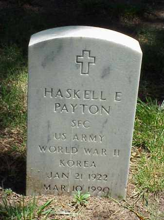 PAYTON (VETERAN 2 WARS), HASKELL E - Pulaski County, Arkansas | HASKELL E PAYTON (VETERAN 2 WARS) - Arkansas Gravestone Photos
