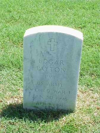 PAYTON (VETERAN WWI), EDGAR - Pulaski County, Arkansas | EDGAR PAYTON (VETERAN WWI) - Arkansas Gravestone Photos
