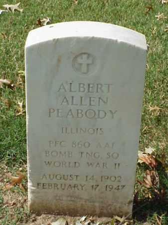 PEABODY (VETERAN WWII), ALBERT ALLEN - Pulaski County, Arkansas | ALBERT ALLEN PEABODY (VETERAN WWII) - Arkansas Gravestone Photos
