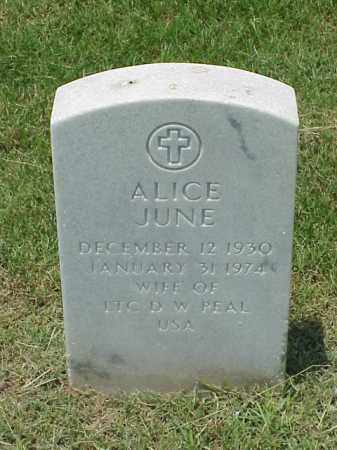 PEAL, ALICE JUNE - Pulaski County, Arkansas | ALICE JUNE PEAL - Arkansas Gravestone Photos