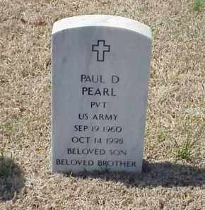 PEARL (VETERAN), PAUL D - Pulaski County, Arkansas | PAUL D PEARL (VETERAN) - Arkansas Gravestone Photos
