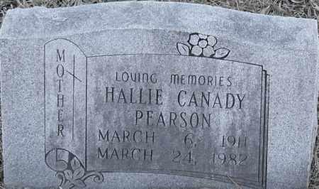 CANADAY PEARSON, HALLIE - Pulaski County, Arkansas | HALLIE CANADAY PEARSON - Arkansas Gravestone Photos