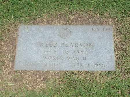 PEARSON (VETERAN WWII), FREED - Pulaski County, Arkansas | FREED PEARSON (VETERAN WWII) - Arkansas Gravestone Photos