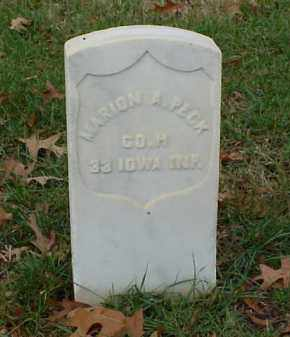 PECK (VETERAN UNION), MARION A - Pulaski County, Arkansas | MARION A PECK (VETERAN UNION) - Arkansas Gravestone Photos