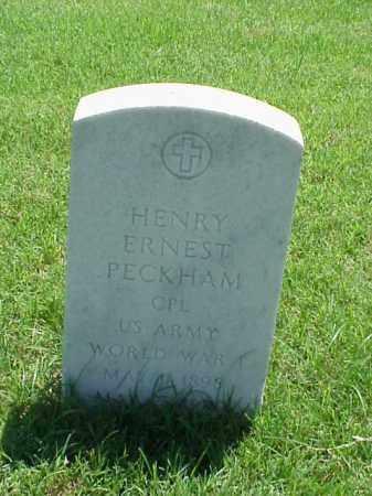 PECKHAM (VETERAN WWI), HENRY ERNEST - Pulaski County, Arkansas | HENRY ERNEST PECKHAM (VETERAN WWI) - Arkansas Gravestone Photos