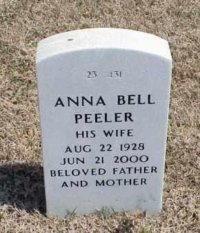 PEELER, ANNA BELL - Pulaski County, Arkansas | ANNA BELL PEELER - Arkansas Gravestone Photos