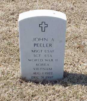 PEELER (VETERAN 3 WARS), JOHN A - Pulaski County, Arkansas | JOHN A PEELER (VETERAN 3 WARS) - Arkansas Gravestone Photos