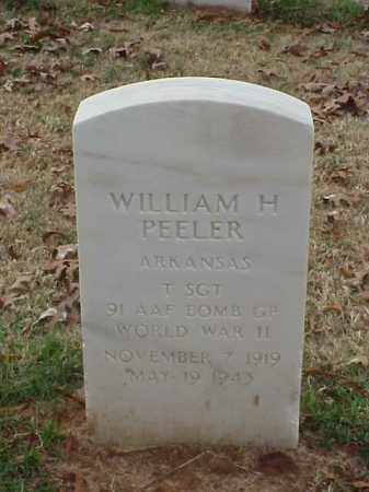 PEELER (VETERAN WWII), WILLIAM H - Pulaski County, Arkansas | WILLIAM H PEELER (VETERAN WWII) - Arkansas Gravestone Photos