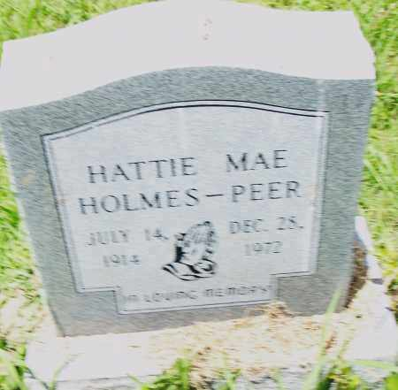 HOLMES PEER, HATTIE MAE - Pulaski County, Arkansas | HATTIE MAE HOLMES PEER - Arkansas Gravestone Photos