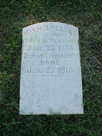 PEGUES, MRS M J - Pulaski County, Arkansas | MRS M J PEGUES - Arkansas Gravestone Photos