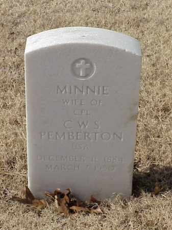 PEMBERTON, MINNIE - Pulaski County, Arkansas | MINNIE PEMBERTON - Arkansas Gravestone Photos