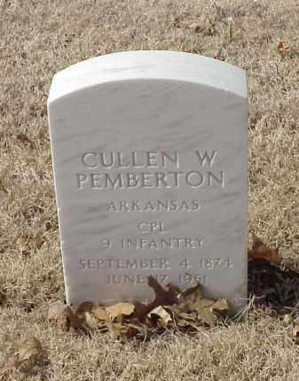 PEMBERTON (VETERAN SAW), CULLEN W - Pulaski County, Arkansas | CULLEN W PEMBERTON (VETERAN SAW) - Arkansas Gravestone Photos