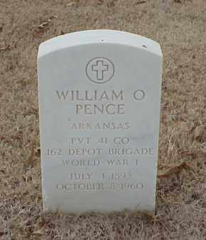 PENCE  (VETERAN WWI), WILLIAM O - Pulaski County, Arkansas | WILLIAM O PENCE  (VETERAN WWI) - Arkansas Gravestone Photos