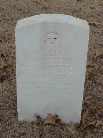 PENNINGTON (VETERAN WWI), WILLIAM PRESTON - Pulaski County, Arkansas | WILLIAM PRESTON PENNINGTON (VETERAN WWI) - Arkansas Gravestone Photos
