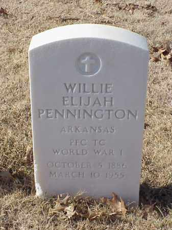 PENNINGTON (VETERAN WWI), WILLIE ELIJAH - Pulaski County, Arkansas | WILLIE ELIJAH PENNINGTON (VETERAN WWI) - Arkansas Gravestone Photos