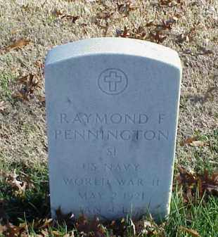 PENNINGTON (VETERAN WWII), RAYMOND F - Pulaski County, Arkansas | RAYMOND F PENNINGTON (VETERAN WWII) - Arkansas Gravestone Photos