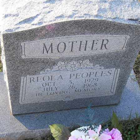 PEOPLES, REOLA - Pulaski County, Arkansas | REOLA PEOPLES - Arkansas Gravestone Photos