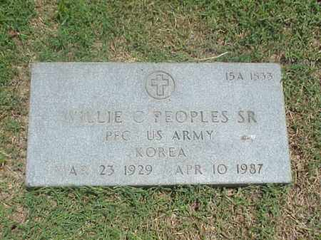 PEOPLES, SR (VETERAN KOR), WILLIE C - Pulaski County, Arkansas | WILLIE C PEOPLES, SR (VETERAN KOR) - Arkansas Gravestone Photos