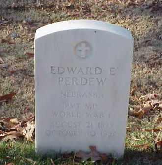 PERDEW (VETERAN WWI), EDWARD E - Pulaski County, Arkansas | EDWARD E PERDEW (VETERAN WWI) - Arkansas Gravestone Photos