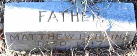 PERKINS, MATTHEW - Pulaski County, Arkansas | MATTHEW PERKINS - Arkansas Gravestone Photos