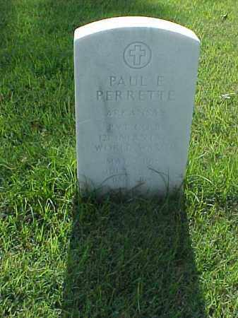 PERRETTE (VETERAN WWII), PAUL E - Pulaski County, Arkansas | PAUL E PERRETTE (VETERAN WWII) - Arkansas Gravestone Photos