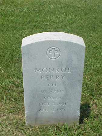 PERRY (VETERAN KOR), MONROE - Pulaski County, Arkansas | MONROE PERRY (VETERAN KOR) - Arkansas Gravestone Photos