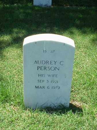 PERSON, AUDREY C - Pulaski County, Arkansas | AUDREY C PERSON - Arkansas Gravestone Photos
