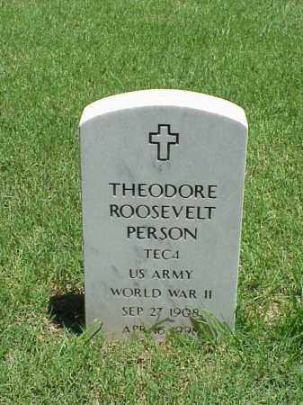 PERSON (VETERAN WWII), THEODORE ROOSEVELT - Pulaski County, Arkansas | THEODORE ROOSEVELT PERSON (VETERAN WWII) - Arkansas Gravestone Photos