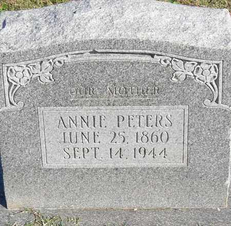 PETERS, ANNIE - Pulaski County, Arkansas | ANNIE PETERS - Arkansas Gravestone Photos