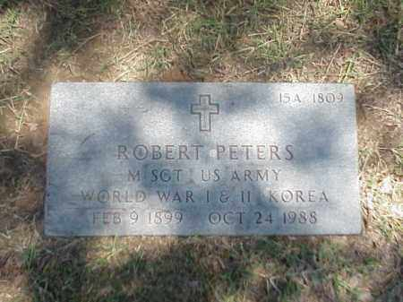 PETERS (VETERAN 3 WARS), ROBERT - Pulaski County, Arkansas | ROBERT PETERS (VETERAN 3 WARS) - Arkansas Gravestone Photos