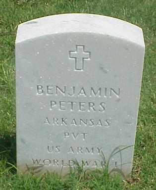 PETERS (VETERAN WWI), BENJAMIN - Pulaski County, Arkansas | BENJAMIN PETERS (VETERAN WWI) - Arkansas Gravestone Photos