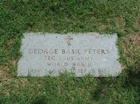 PETERS (VETERAN WWII), GEORGE BASIL - Pulaski County, Arkansas | GEORGE BASIL PETERS (VETERAN WWII) - Arkansas Gravestone Photos