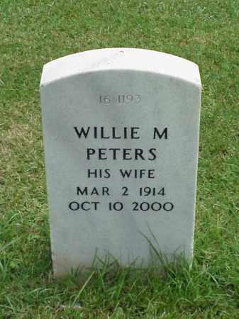 PETERS, WILLIE M - Pulaski County, Arkansas | WILLIE M PETERS - Arkansas Gravestone Photos