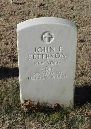 PETERSON (VETERAN WWI), JOHN F - Pulaski County, Arkansas | JOHN F PETERSON (VETERAN WWI) - Arkansas Gravestone Photos