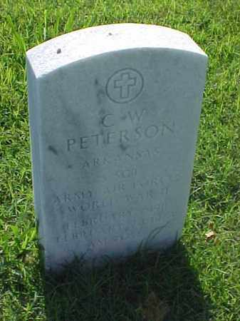PETERSON (VETERAN WWII), C W - Pulaski County, Arkansas | C W PETERSON (VETERAN WWII) - Arkansas Gravestone Photos